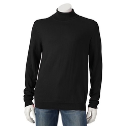 Croft & Barrow - Classic-Fit Solid Fine Gauge Turtleneck Shirt