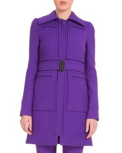 Victoria Victoria Beckham  - Wide-Collar Belted Coat