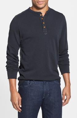 Jeremiah  - Camper Long Sleeve Slub Cotton Henley Shirt