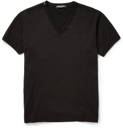 Dolce & Gabbana - V-Neck Cotton-Jersey T-Shirt