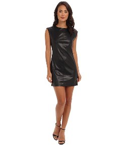 BCBGMAXAZRIA  - Karlee Faux Leather Shift Dress