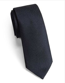 Saks Fifth Avenue Collection - Modern-Fit Solid Silk Tie