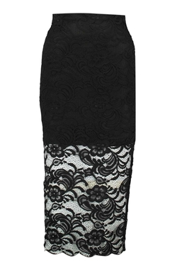 Boohoo Night - Lola Lace Midi Skirt