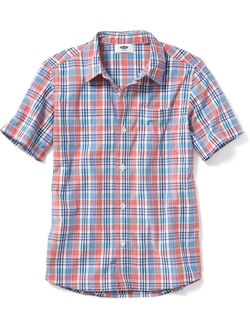 Old Navy - Plaid Short-Sleeve Shirt for Boys