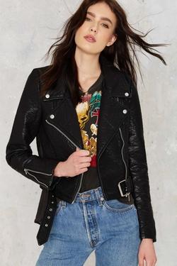 Nasty Gal - Atomic Vegan Leather Jacket