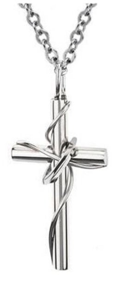 JSDY Jewelry - Twine Ring Cross Pendant Necklace