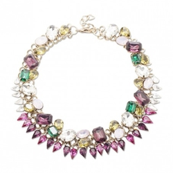 Sole Society  - Crystal And Stone Statement Collar Necklace