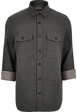 River Island - Flannel Two Pocket Overshirt