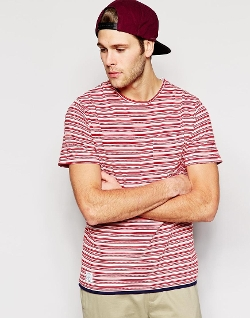 Asos - Native Youth Jacquard Stripe T-Shirt