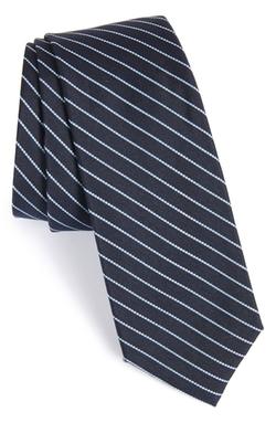 Calibrate - Isabela Stripe Silk & Cotton Tie