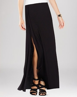 BCBGMAXAZRIA - Logan Side Slit Ruffle Maxi Skirt