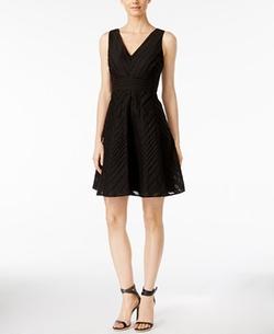 Calvin Klein - Sleeveless V-Neck Fit & Flare Dress