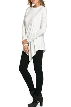 Iconic Luxe - Asymmetric Hem Long Sleeve Top