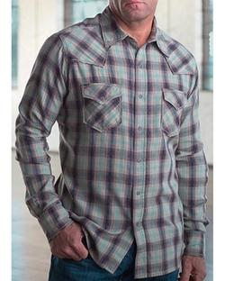 Ryan Michael - Vintage Dobby Plaid Shirt
