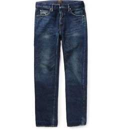 Chimala - Slim-Fit Selvedge Washed-Denim Jeans