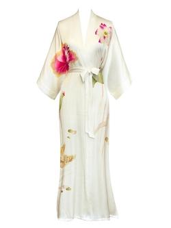 Old Shanghai - Silk Kimono Long Robe