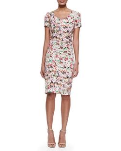 Kay Unger New York - Floral-Print Sheath Dress