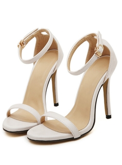 Romwe - Stiletto High Heel Ankle Strap Sandals