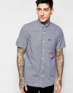 Fred Perry  - Gingham Check Short Sleeves Shirt