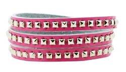 Mandala Crafts - Metal Stud Simple Elegant Wrap Around Bracelet