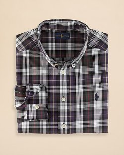 Ralph Lauren - Plaid Poplin Button Down Shirt