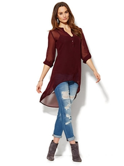 New York & Company - Extreme Hi-lo Tunic Top