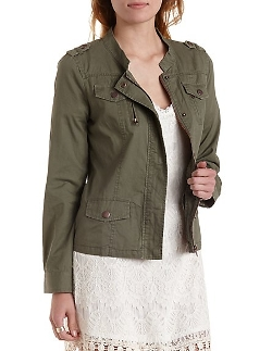 Charlotte Russe - Twill Jacket