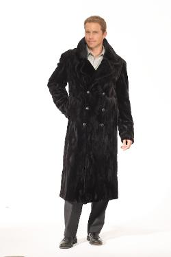 Morris kaye furs - Mens Sheared Full Length Mink Coa