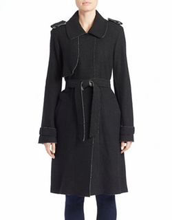 Vince Camuto - Long Wool-Blend Trench Coat