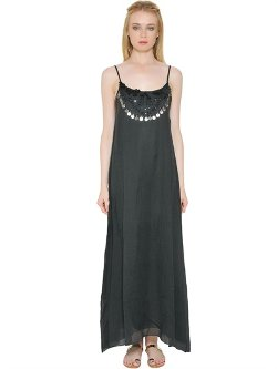 Mes Demoiselles  - Embellished Cotton Voile Dress