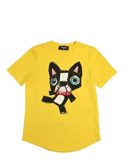 Dsquared2  - Ciro The Dog Printed Cotton T-Shirt