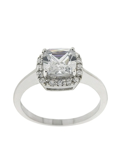 Lord & Taylor - Square Cubic Zirconia Ring