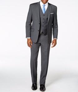 Michael Michael Kors - Striped Deco Vested Classic-Fit Suit