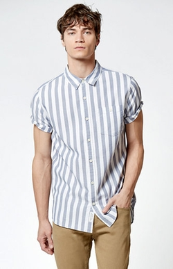 Modern Amusement  - Yammer Short Sleeve Button Up Shirt