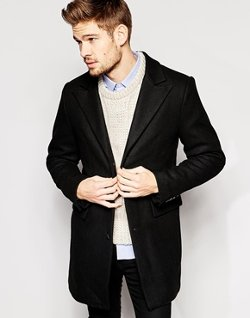 Asos - Selected Overcoat In Wool Mix
