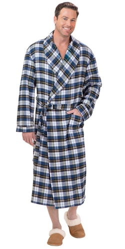 PajamaGram - Tartan Plaid Flannel Robe