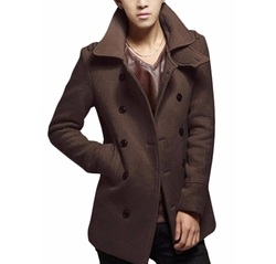 Yuny - Double-Breasted Pea Coat
