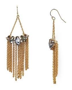 Alexis Bittar  - Elements Fringe Marquise Wire Drop Earrings