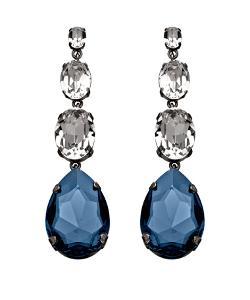 Janis By Janis Savitt  - Triple Crystal Earrings