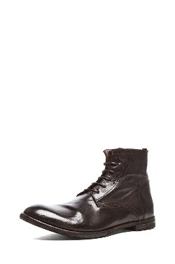 Officine Creative  - Work Leather Boots in Tinto Java