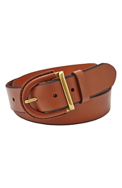 Fossil - Leather Covered Buckle Belt