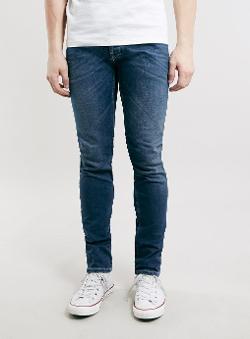 Topman - Mid Wash Stretch Skinny Jeans