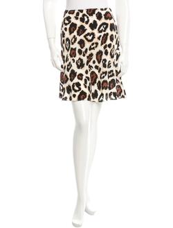 Blumarine - Animal Print Skirt