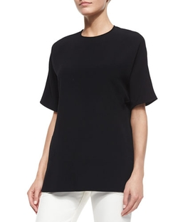 Derek Lam - Crewneck Draped Back Blouse