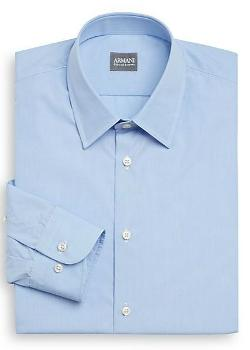 Armani Collezioni - Regular-Fit Cotton Dress Shirt