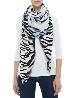 Kenzo - New Tiger Head & Stripes Scarf
