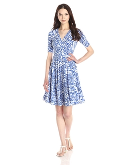 Donna Morgan - Printed Faux-Wrap Dress