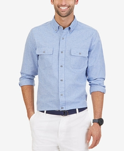 Nautica  - Slim Fit Double Pocket Oxford Shirt