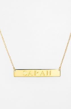 Jane Basch Designs  - Personalized Bar Pendant Necklace