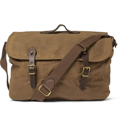 J.crew - Cotton-Canvas And Leather Messenger Bag